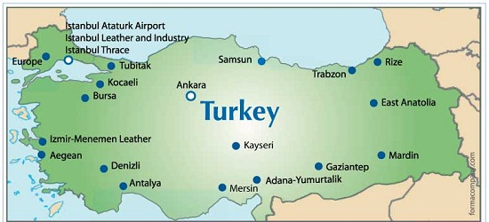 مناطق آزاد موجود در کشور ترکیه