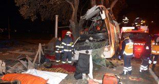 ۵۵ کشته و زخمی برخورد اتوبوس با درخت در ترکیه