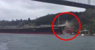 یک نفتکش در پل استانبول دچار سانحه شد