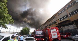 آتش سوزی در کارخانه نساجی در استانبول