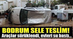 بارش شدید باران و سیل در شهر بدروم ترکیه