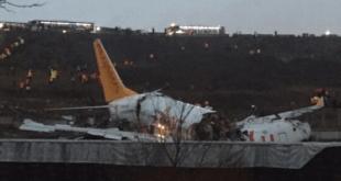هواپیما در استانبول سه تکه شد