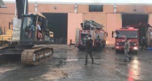 آتش سوزی در کارخانه نساجی ترکیه