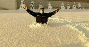 عمق برف در زونگولداک به یک متر رسید