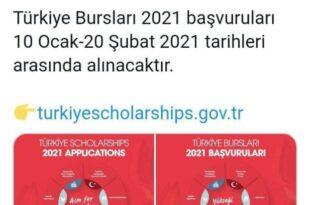بورسیه تحصیلی ترکیه سال 2021