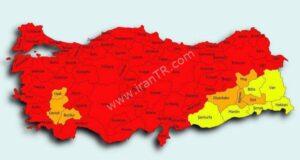 نقشه خطرناک کرونا در ترکیه