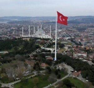 بزرگترین پرچم ترکیه نصب شد