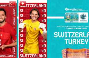 مسابقات یورو امشب ترکیه و سوئیس