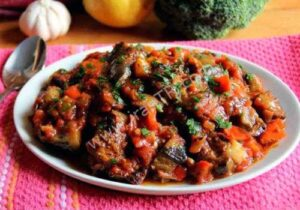 خوراک بادمجان کبابی ترکیهای