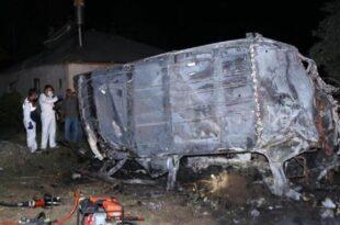 سقوط اتوبوس مهاجران در وان ترکیه