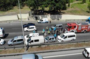 تصادف زنجیره ای در مال تپه استانبول