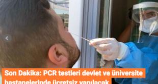 آزمایشات PCR به صورت رایگان در ترکیه انجام می شود