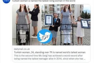 قدبلندترین زن اهل ترکیه در گینس ثبت شد